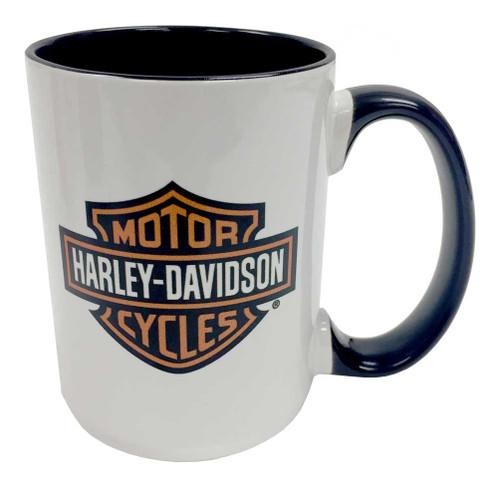 Harley-Davidson Bar & Shield Logo Coffee Mug, 15 oz. White HD-BSS-1772B - Wisconsin Harley-Davidson