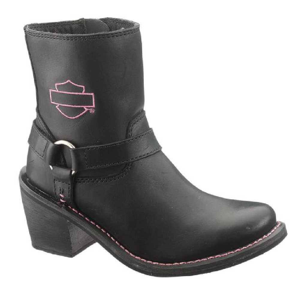 913ab4be76c Harley-Davidson® Wolverine Women's Morgan Black Leather 7-Inch Boots D87008