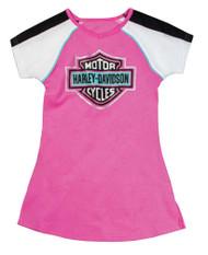 Harley-Davidson Big Girls' Glittery Bar & Shield A-Line T-Shirt Dress 9041649 - Wisconsin Harley-Davidson
