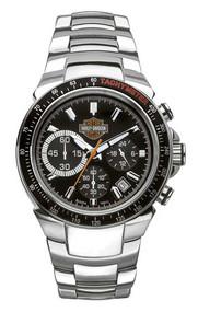 Harley-Davidson Men's Bulova Chronograph Bar & Shield Wrist Watch 78B113 - Wisconsin Harley-Davidson