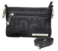 Harley-Davidson Women's Hip Bag, HD Jacquard, Black Cotton Purse  HD3492J-Black - Wisconsin Harley-Davidson