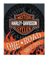 Harley-Davidson Flares Bar & Shield Large Beach Towel, 54 x 68 inch, NW079960 - Wisconsin Harley-Davidson
