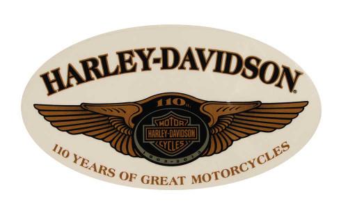 Harley-Davidson 110th Anniversary Winged Window Cling Large DC1281776 - Wisconsin Harley-Davidson