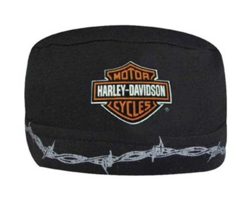 Harley-Davidson Barbed Wire Bar & Shield Skull Cap Black SK60230 - Wisconsin Harley-Davidson