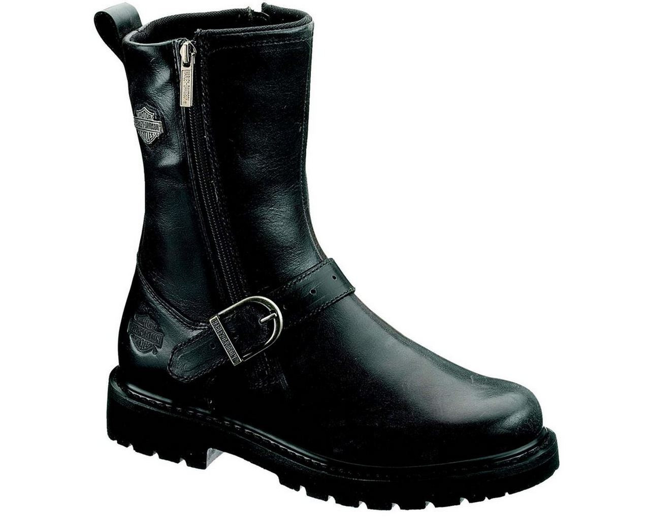 06ff8d816bd4 Harley-Davidson® Men s Ryan 8.5-Inch Black or Brown Boots. Side Zip. D93204  - Wisconsin Harley-Davidson