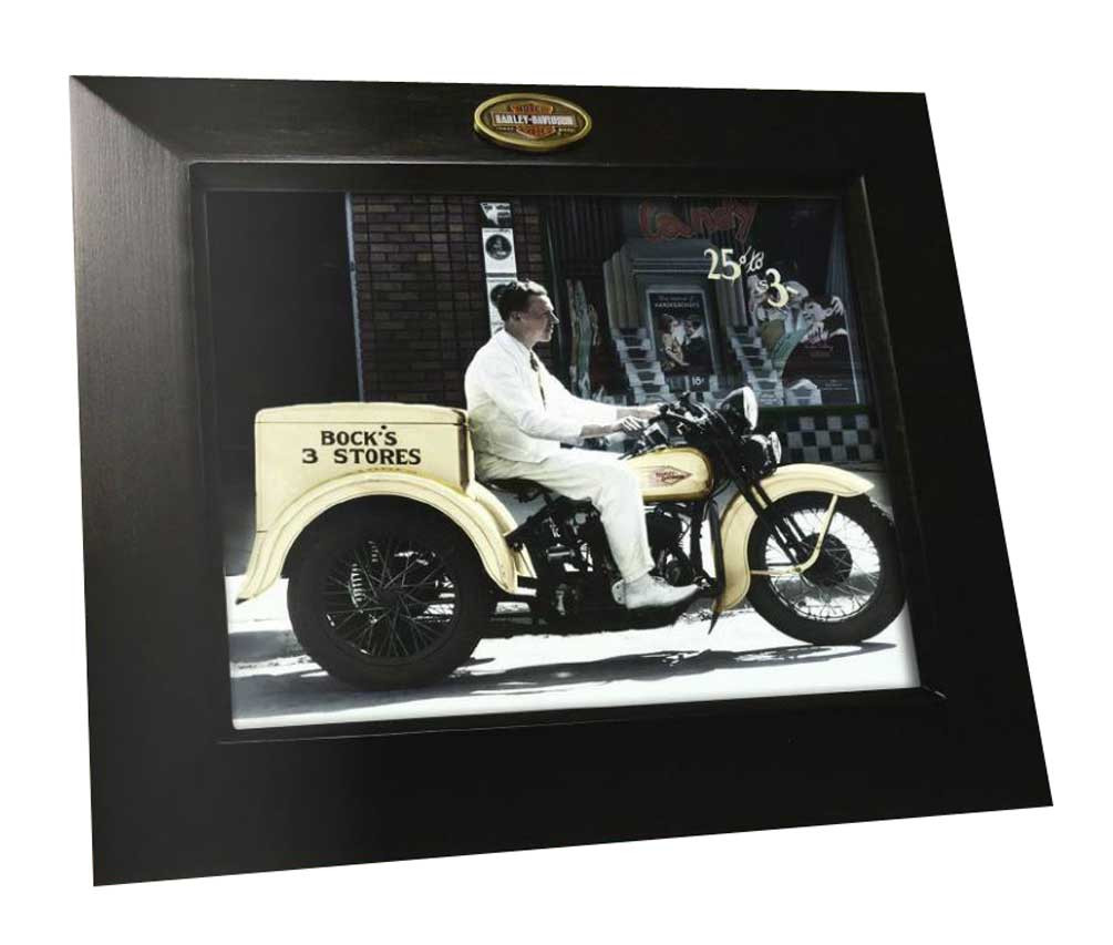 Harley Davidson Trademark Bar Shield 8 X 10 Portrait Photo Frame
