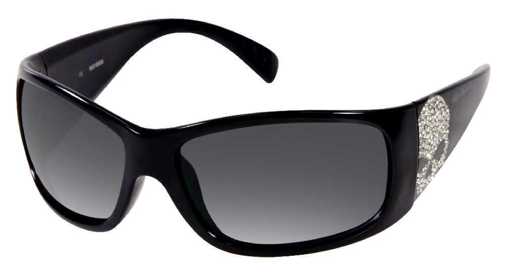 50cf951ee Harley-Davidson® Womens Sun Bling Sunglasses Rhinestone Skull Black  HDS8000BLK-3