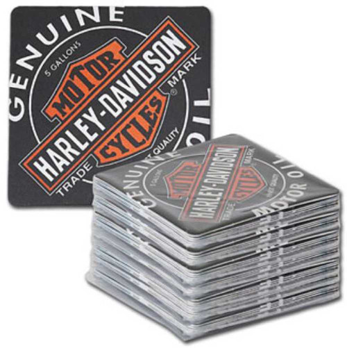 Harley-Davidson Coaster Refill Oil Can Bar Caddy - Pack of 50 HDL-18513-C - Wisconsin Harley-Davidson