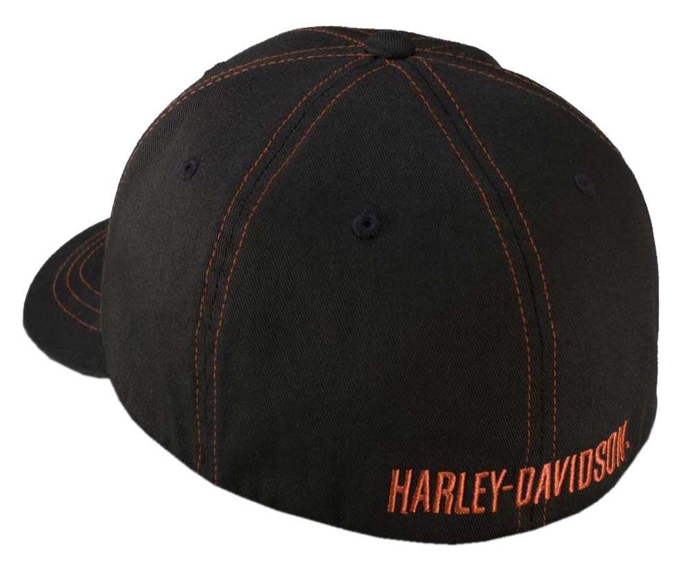 4d4af358f10 Harley-Davidson® Men s Contrast Stitch Logo Stretch Cap Hat