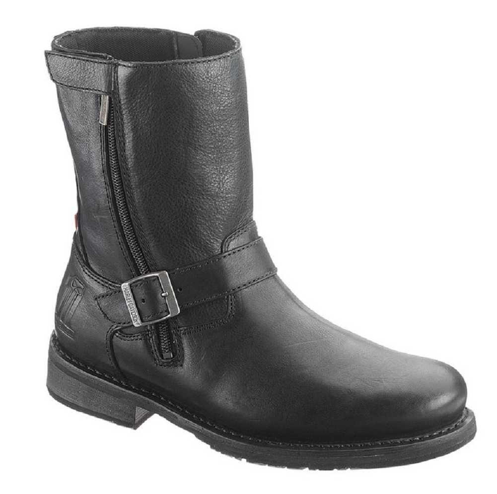 81f3bf7fa461 ... Men s Karl 8-Inch Black Boots D93125 - Wisconsin Harley-Davidson. Click  to enlarge