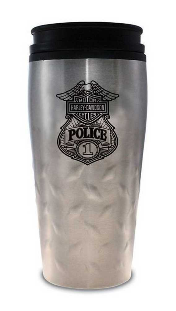 Mug Original Travel Steel Police 12 Harley Davidson® Stainless OzMg126306 jLAR3q54