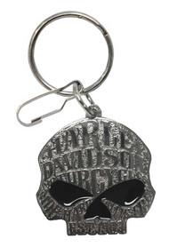 Harley-Davidson Willie G Sugar Skull Logo Enamel Key Chain, Silver 4382 - Wisconsin Harley-Davidson