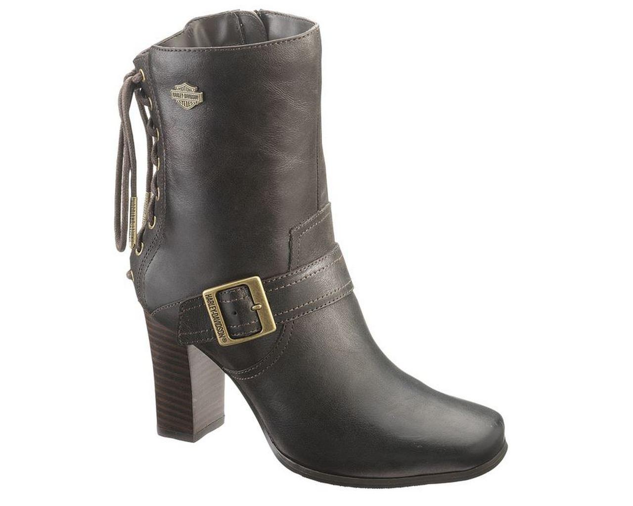 560570032f Harley-Davidson® Women's Shanna 7-Inch Black or Brown High Heel Boots.  D83678