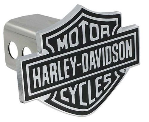 Harley-Davidson Bar & Shield Trailer Hitch Cover 2'' Stainless Steel HDHC14 - Wisconsin Harley-Davidson