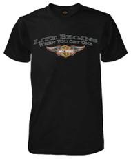 Harley-Davidson Men's T-Shirt, Winged Bar & Shield Logo Black Tee R783500030 - Wisconsin Harley-Davidson
