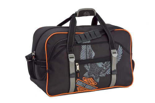 Harley-Davidson 20'' Black Carry-On Gear Bag Duffel 99602 - Wisconsin Harley-Davidson