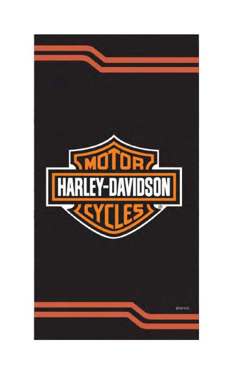 Harley-Davidson Classic Bar & Shield Heaver & Bigger Beach Towel, Black 23439 - Wisconsin Harley-Davidson