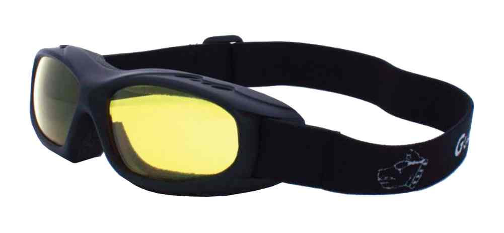 c2bf1142425c Guard-Dogs Evader I Motorcycle Dry Eye Goggles Golden Lens Matte Black  054-13-01 - Wisconsin ...