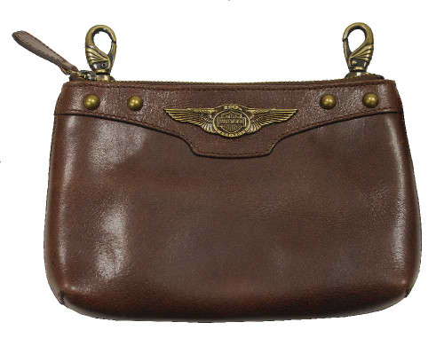 Harley-Davidson 110th Anniversary Women's Hip Bag Brown Leather AL1180L-Brown - Wisconsin Harley-Davidson