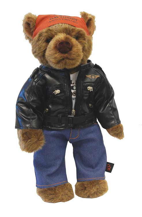 Harley-Davidson110th Anniversary Bear, Limited Edition Stuffed Biker Bear 20335 - Wisconsin Harley-Davidson