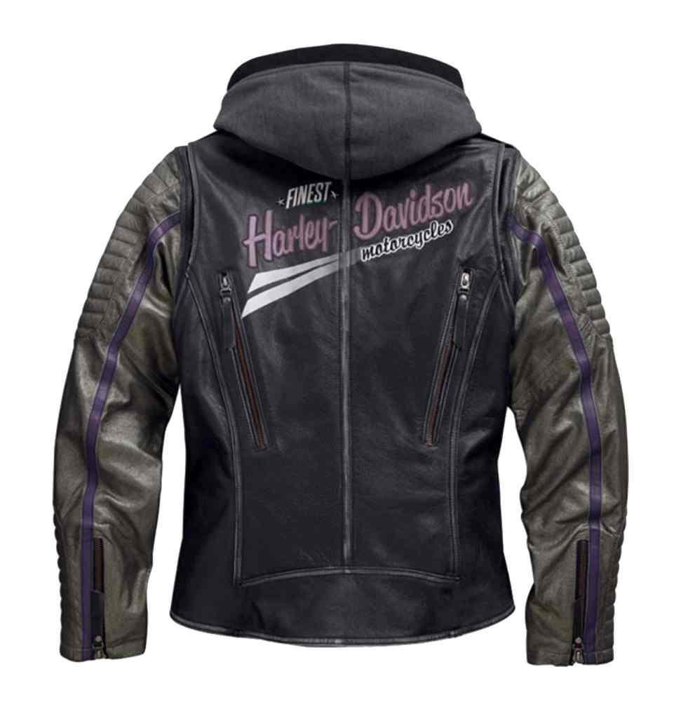4f59a30455e9 Harley-Davidson® Women s Speedy 3-IN-1 Leather Biker Jacket