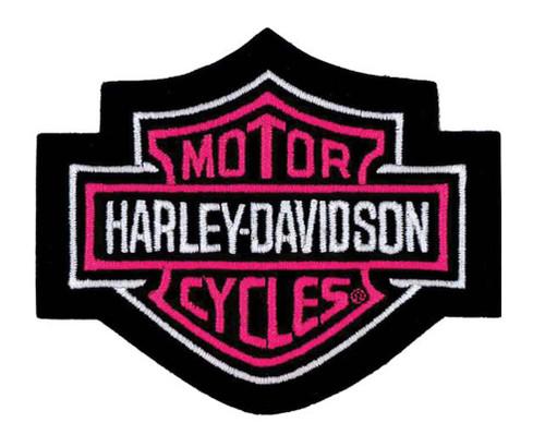 Harley-Davidson Bar & Shield Pink Small Patch, 4'' W x 3-1/2'' H EM302452 - Wisconsin Harley-Davidson