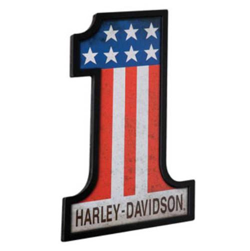 Harley-Davidson #1 Racing Custom Shape Pub Sign HDL-15310 - Wisconsin Harley-Davidson