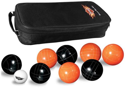 Harley-Davidson Bocce Ball Game Set: Set of 8 Balls, Black & Orange 66225 - Wisconsin Harley-Davidson