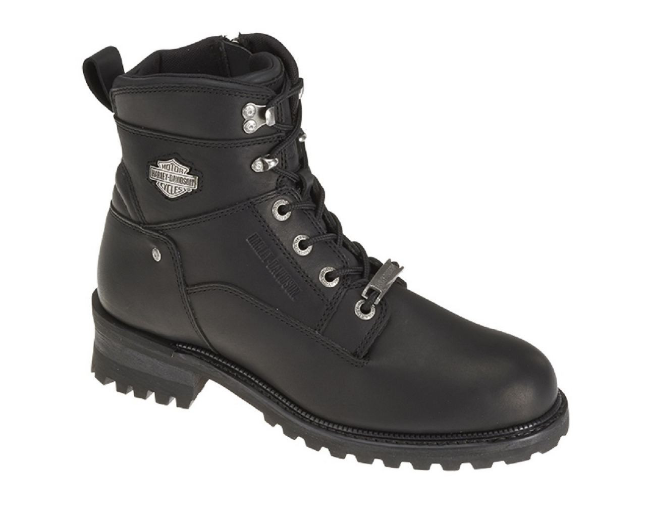 1ce67bf802f Harley-Davidson® Men's Glenn 6-In Black Leather Motorcycle Harness Boots.  D96058
