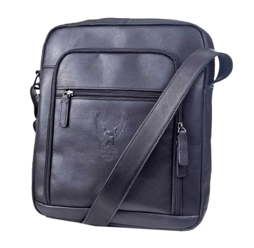 Harley-Davidson Deluxe Leather Satchel, Eagle Bar & Shield Tote, Black 99672 - Wisconsin Harley-Davidson