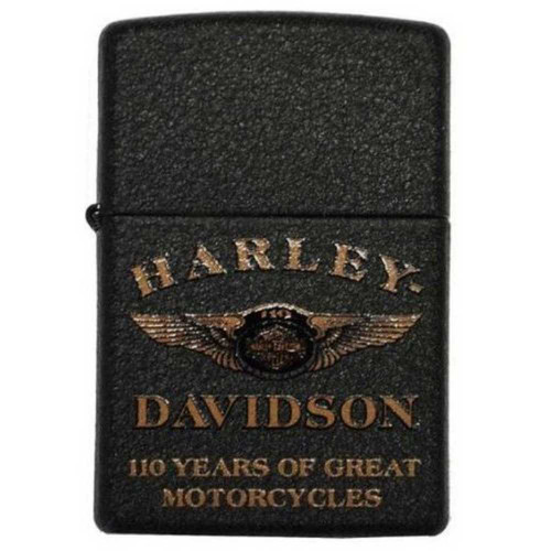 Harley-Davidson 110th Anniversary Limited Edition Zippo Lighter Black 28417 - Wisconsin Harley-Davidson