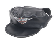 Harley-Davidson Winged Bar & Shield Pet Cap Black Vinyl Small H2500-H-BK1SML - Wisconsin Harley-Davidson