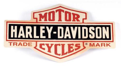 Harley-Davidson Distressed Long Bar & Shield Tin Sign 15.5 x 9.5 Inch 2010131 - Wisconsin Harley-Davidson