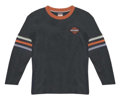 Harley-Davidson Big Boys' Long Sleeve Waffle Knit Thermal Shirt, Black 1091688 - Wisconsin Harley-Davidson