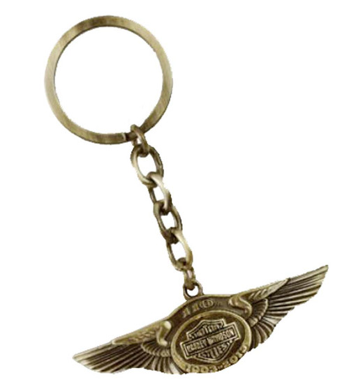 Harley-Davidson 110th Anniversary Bar & Shield Wing Key Chain HDKD237 - Wisconsin Harley-Davidson