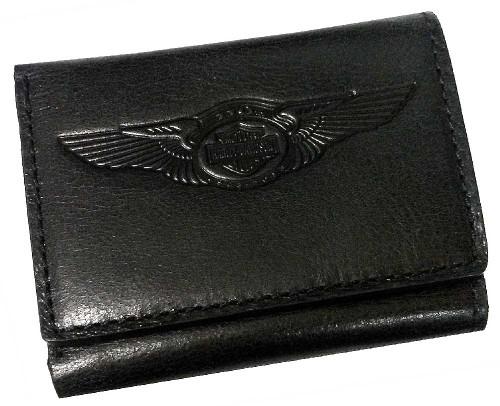 Harley-Davidson 110th Anniversary Tri-Fold Wallet Black Leather AM1159L-Black - Wisconsin Harley-Davidson