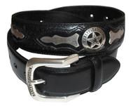 Harley-Davidson Mens Deputy Leather Belt HDMBT10006 - Wisconsin Harley-Davidson