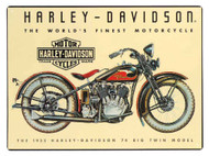 Harley-Davidson 74 Big Twin Tin Metal Sign 12.5 x 17 Inch  2010011 - Wisconsin Harley-Davidson