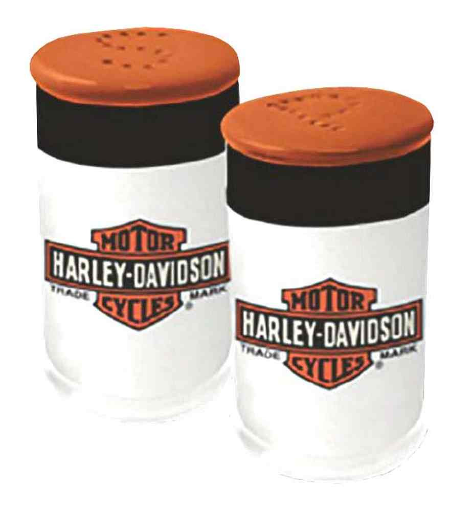 Harley-Davidson® Trademark Bar   Shield Salt   Pepper Shakers Set ... c40734d06ec0