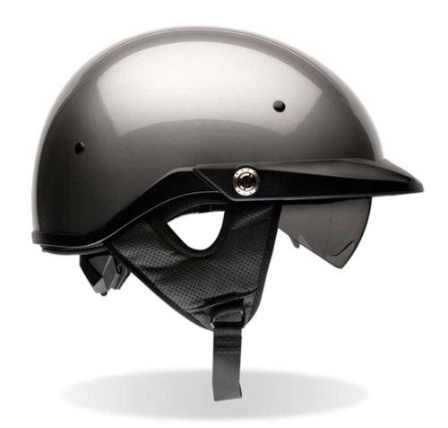 BELL Pit Boss Ultra-Light Motorcycle Helmet w/ Sun Shade Titanium Color 2033 - Wisconsin Harley-Davidson