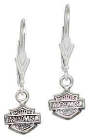 Harley-Davidson Women's Bar & Shield Dangle Earrings HDE0088 - Wisconsin Harley-Davidson