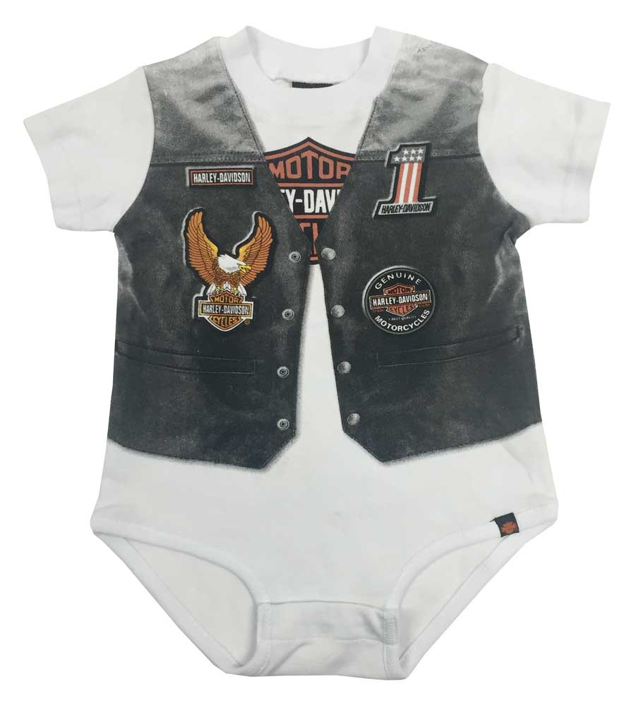 cf06d6e0bdc Harley-Davidson® Baby Boys  Printed-On Motorcycle Vest Newborn ...