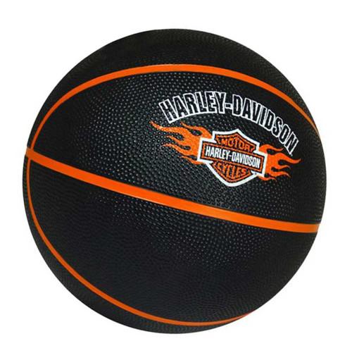Harley-Davidson Basketball, Bar & Shield Flames Logo, Full Size, Black 66444 - Wisconsin Harley-Davidson