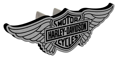 Harley-Davidson Bar & Shield Winged Hitch Plug, 1-1/4 In and 2-In Brackets P2250 - Wisconsin Harley-Davidson