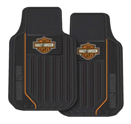 Harley-Davidson Elite Floor Mats, Bar & Shield Universal-Fit Front 1467 Set of 2 - Wisconsin Harley-Davidson