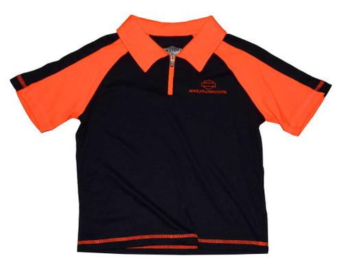 Harley-Davidson Big Boys' Polo Shirt, Performance Tech T-Shirt, Black 3391522 - Wisconsin Harley-Davidson
