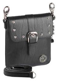 Harley-Davidson Women's Hip Bag, Minimalist Black Leather Purse WW0029L-Black - Wisconsin Harley-Davidson