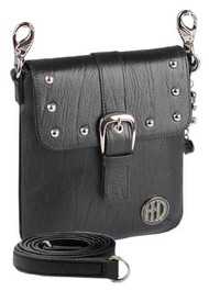 Harley-Davidson Women's Hip Bag, Minimalist Black Leather Purse WW0029L-Black - Wisconsin Harley-Davidson