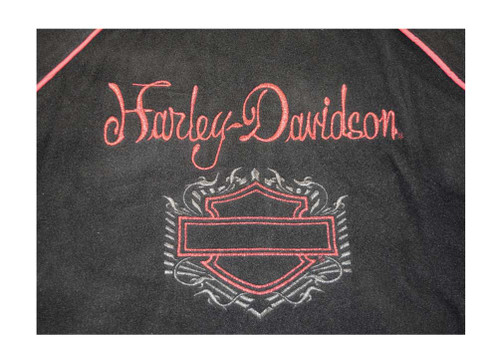 Harley-Davidson Big Girls' Windbreaker Jacket, B&S Reversible Coat, Red 4246064 - Wisconsin Harley-Davidson