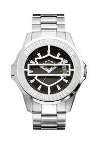 Harley-Davidson Men's Bulova Bar & Shield Case Wrist Watch 76B143 - Wisconsin Harley-Davidson
